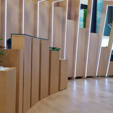 Google Nigeria Office Interior Design woodwork 10