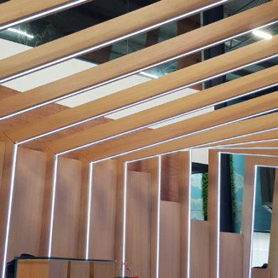 Google Nigeria Office Interior Design woodwork 11
