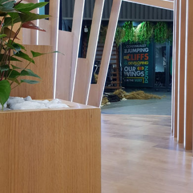 Google Nigeria Office Interior Design woodwork 12