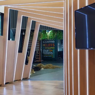 Google Nigeria Office Interior Design woodwork 13