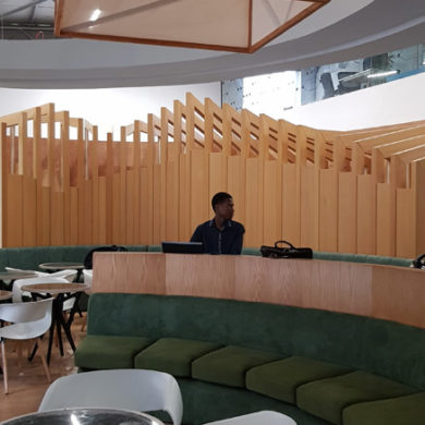 Google Nigeria Office Interior Design woodwork 2