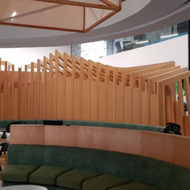 Google Nigeria Office Interior Design woodwork 3