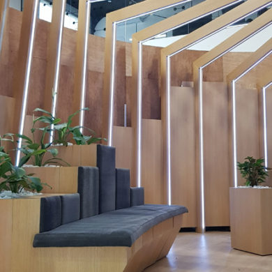 Google Nigeria Office Interior Design woodwork 6