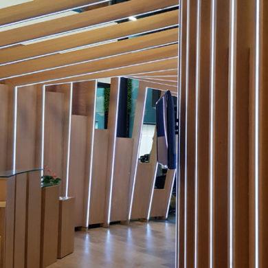 Google Nigeria Office Interior Design woodwork 7