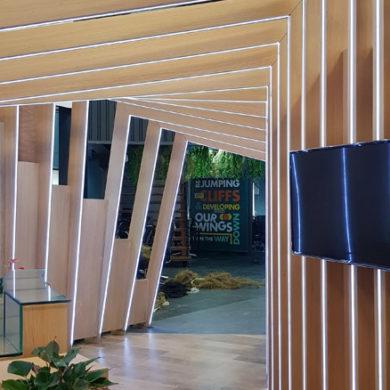 Google Nigeria Office Interior Design woodwork 8