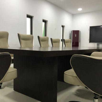 villa group wood design luxury nigeria lagos corporate table meeting room 2