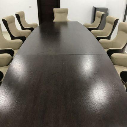 villa group wood design luxury nigeria lagos corporate table meeting room 4