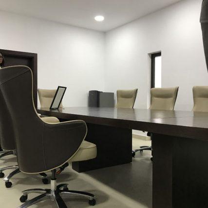 villa group wood design luxury nigeria lagos corporate table meeting room 6